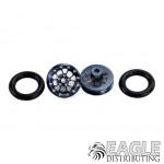.050 x 3/8 x 1/16 Gunmetal Bulldog Wheelie Wheel Kit