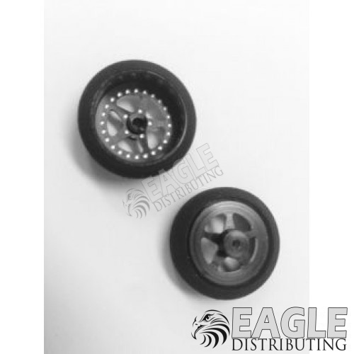 3/4 x .250 Black Star Drag Front Wheels with Foam Tires-PRO410BBL