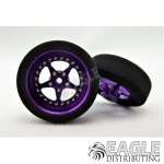 3/4 x .250 Purple Star Drag Front Wheels with Foam Tires