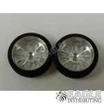 3/4 x .250 Turbine Drag Front Wheels with Foam Tires