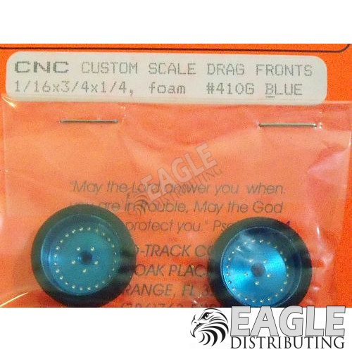 3/4 x .250 Blue Classic Foam Drag Fronts-PRO410GB