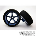 3/4 x .250 Blue Pro Star Drag Front Wheels with Foam Tires