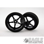 3/4 x .250 Black Pro Star Drag Front Wheels with Foam Tires