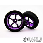 3/4 x .250 Purple Pro Star Drag Front Wheels with Foam Tires