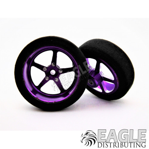 3/4 Foam Drag Front Tire Purple