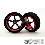 3/4 x .250 Red Pro Star Drag Front Wheels with Foam Tires