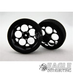 3/4 x .250 Black Magnum Drag Front Wheels with Foam Tires