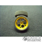3/4 x .250 Gold Magnum Drag Front Wheels with Foam Tires