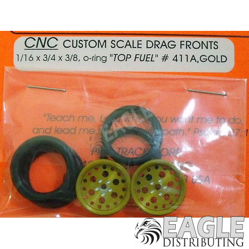 1/16 x 3/4 Gold Top Fuel O-ring Drag Fronts-PRO411AG