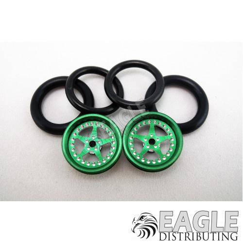 1/16 x 3/4 Green Star O-ring Drag Fronts-PRO411BGR