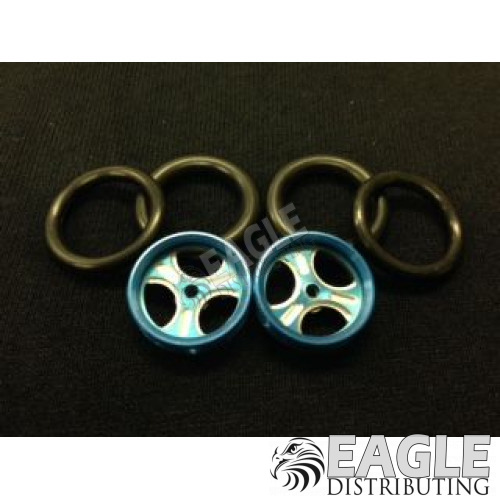1/16 x 3/4 Blue Streeter O-ring Drag Fronts-PRO411DB
