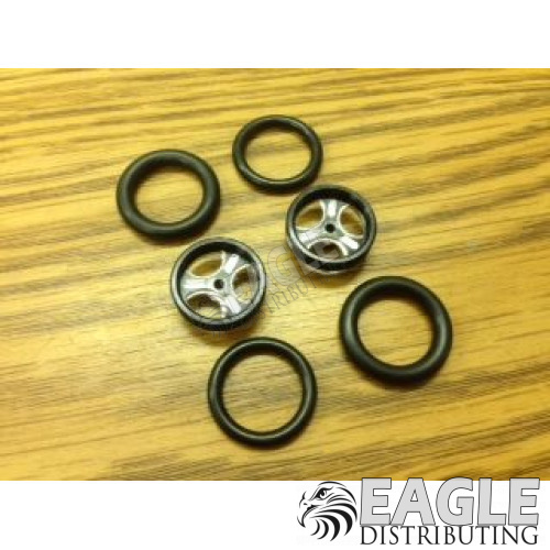 1/16 x 3/4 Black Streeter O-ring Drag Fronts-PRO411DBL