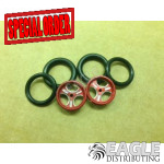 1/16 x 3/4 Red Streeter O-ring Drag Fronts
