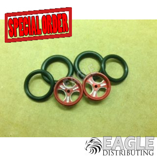 1/16 x 3/4 Red Streeter O-ring Drag Fronts-PRO411DR