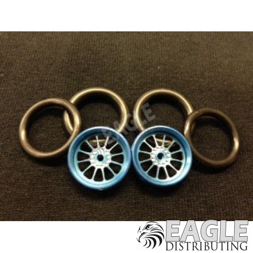 1/16 x 3/4 Blue Turbine O-ring Drag Fronts-PRO411EB