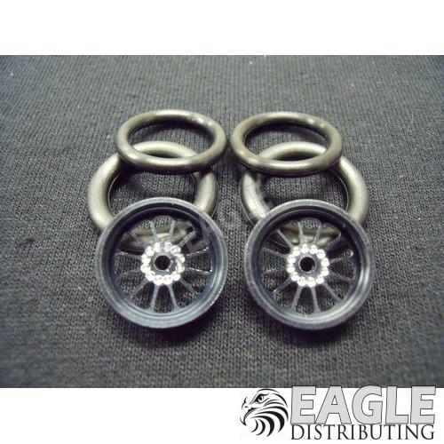 1/16 x 3/4 Black Turbine O-ring Drag Fronts-PRO411EBL