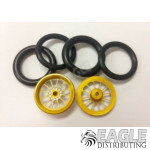 1/16 x 3/4 Gold Turbine O-ring Drag Fronts