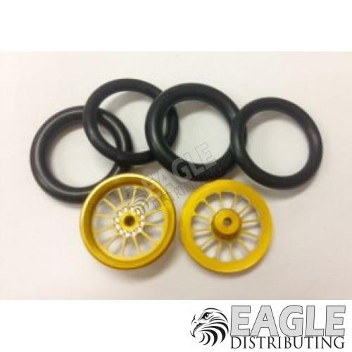 1/16 x 3/4 Gold Turbine O-ring Drag Fronts-PRO411EG