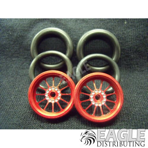 1/16 x 3/4 Red Turbine O-ring Drag Fronts-PRO411ER