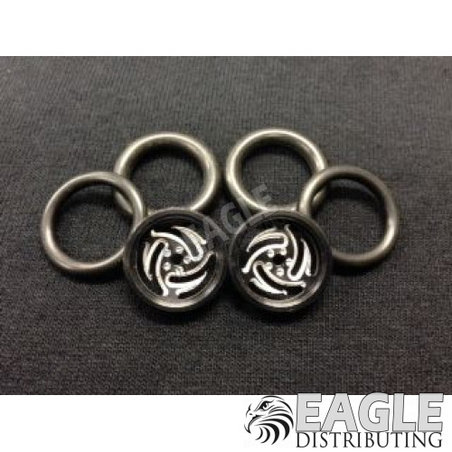 1/16 x 3/4 Black Ninja O-ring Drag Fronts-PRO411FBL