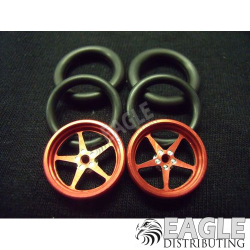 1/16 x 3/4 Red Pro Star O-ring Drag Fronts-PRO411IR