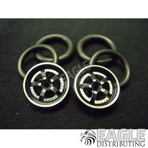 1/16 x 3/4 3D Black Evolution O-ring Drag Fronts-PRO411K3DBL
