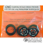 1/16 x 3/4 Black Evolution O-ring Drag Fronts