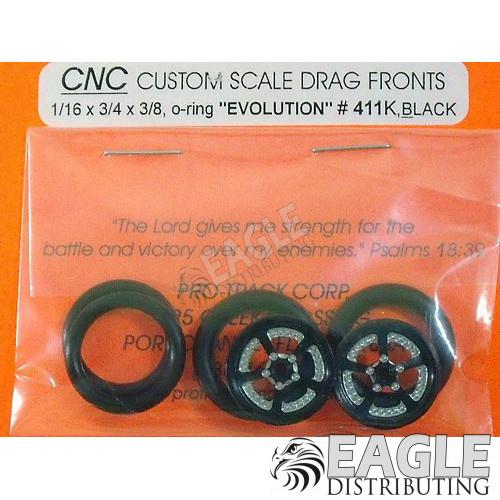 1/16 x 3/4 Black Evolution O-ring Drag Fronts-PRO411KBL