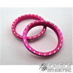 Neon Pink Beadlock w/Rivets