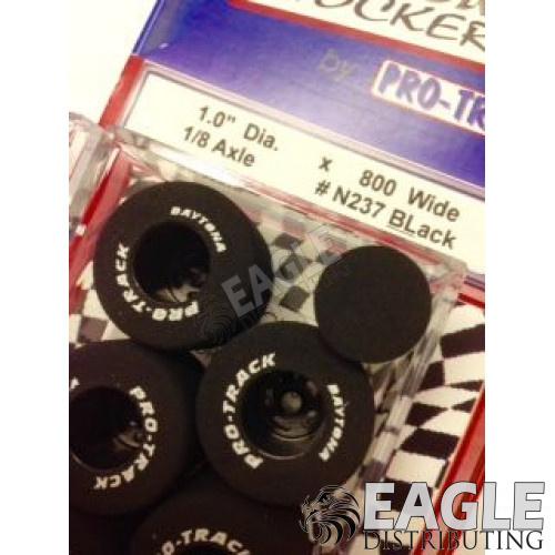 1/8 x 1.0 x . 800 Black Daytona Stockers Rears, Nat. Rubber-PRON237BL