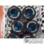 1/8 x .850 x .800 Blue Daytona Stockers Rears, Nat. Rubber
