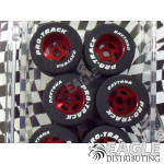1/8 x .850 x .800 Red Daytona Stockers Rears, Nat. Rubber