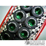 1/8 x .910 x .800 Green Daytona Stockers Rears, Nat. Rubber