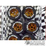 1/8 x .825 x .800 Gold Daytona Stockers Drag Rears, Nat. Rubber