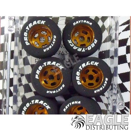 1/8 x .825 x .800 Gold Daytona Stockers Drag Rears, Nat. Rubber-PRON327G