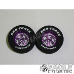 3/32 x 1 1/16 x .300 Purple Star Drag Rear Wheels with Nat. Rubber Tires