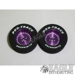 3/32 x 1 1/16 x .300 Purple Classic Drag Rear Wheels with Nat. Rubber Tires