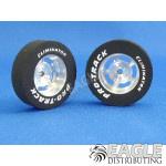 3/32 x 1 1/16 x .300 Daytona Drag Rear Wheels with Nat. Rubber Tires