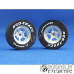 3/32 x 1 1/16 x .300 3D Pro Star Drag Rear Wheels with Nat. Rubber Tires