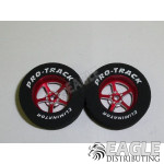 3/32 x 1 1/16 x .300 Red Pro Star Drag Wheels