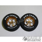 3/32 x 1 1/16 x .300 Gold Magnum Drag Rear Wheels with Nat. Rubber Tires