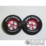 3/32 x 1 1/16 x .300 Red Magnum Drag Rear Wheels with Nat. Rubber Tires