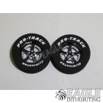 3/32 x 1 1/16 x .300 Black Evolution Drag Rear Wheels with Nat. Rubber Tires