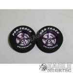 3/32 x 1 1/16 x .300 Purple Evolution Drag Rear Wheels with Nat. Rubber Tires