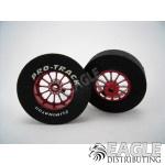 3/32 x 1 3/16 x .300 Red Turbine Drag Wheels