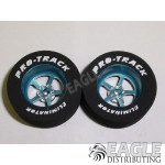 3/32 x 1 1/16 x .435 Blue Pro Star Drag Wheels
