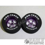 3/32 x 1 1/16 x .435 Purple Pro Star Drag Wheels
