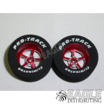 3/32 x 1 1/16 x .435 Red Pro Star Drag Wheels