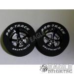 3/32 x 1 1/16 x .435 Black Evolution Drag Wheels