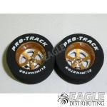 3/32 x 1 1/16 x .435 Gold Evolution Drag Wheels